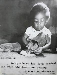 Montessori independence poster