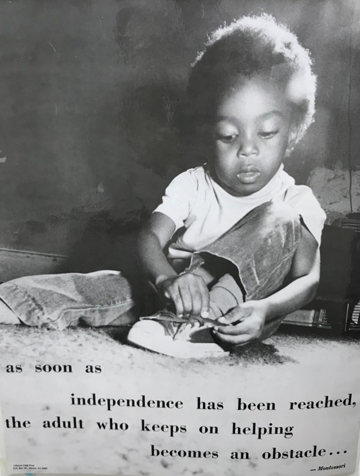 Montessori independence poster